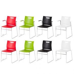 unite plasstoler sort hvit rød og grønn