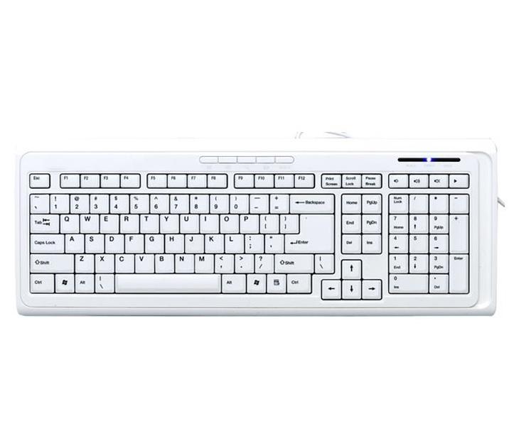 Ergonomisk tastatur, hvit