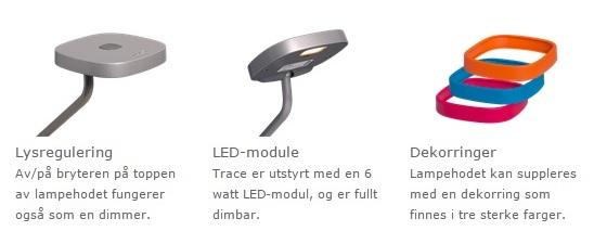 Trace bordlampe