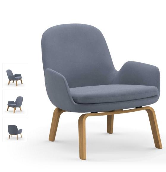 Nytt Era Lounge stol - lav - med treunderstell - Kontor & Interiør YM-53